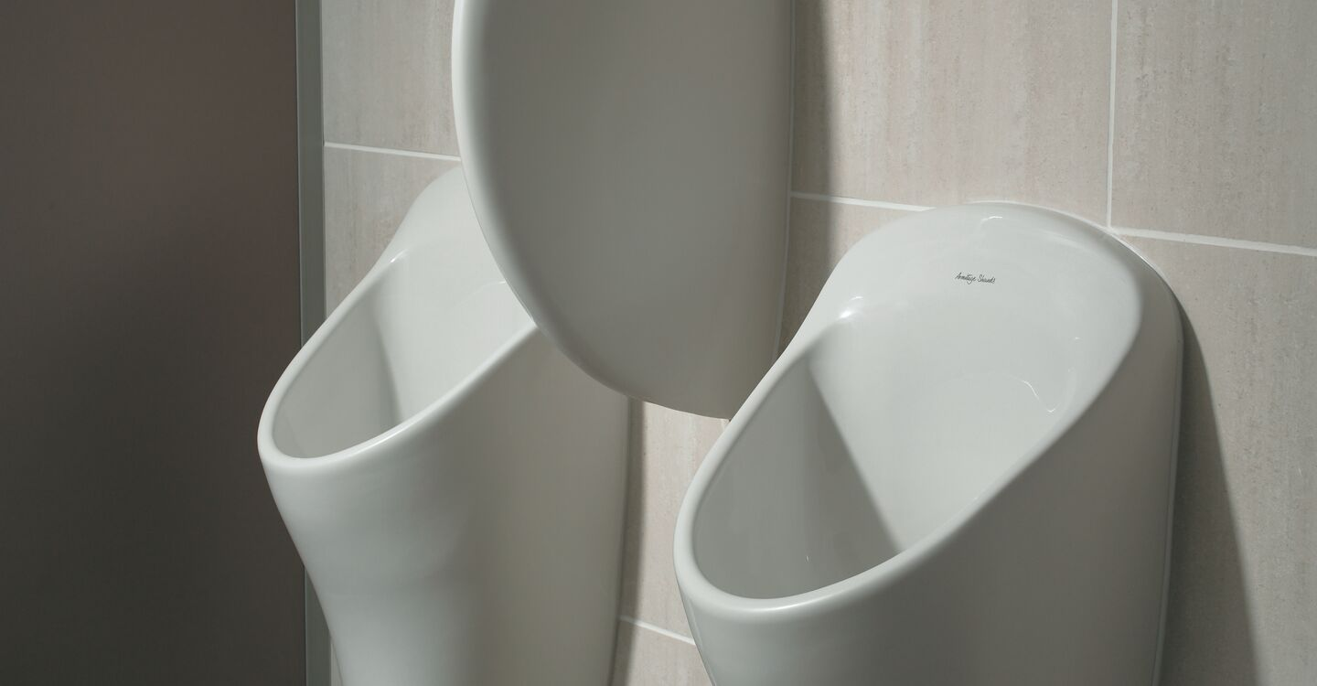 Urinal division with hanger & screw