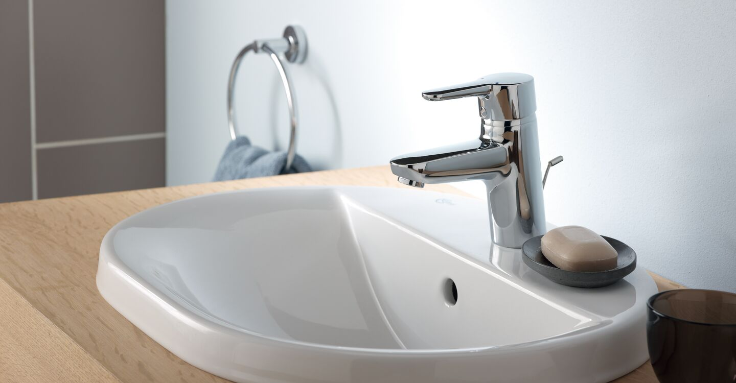 55cm countertop basin, 2 taphole, nof, nch