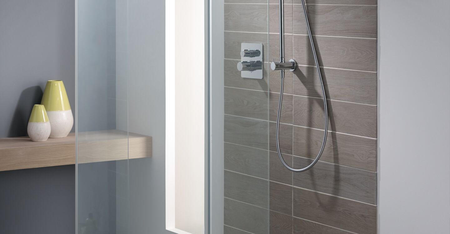 1200mm wet room panel, idealclean clear glass