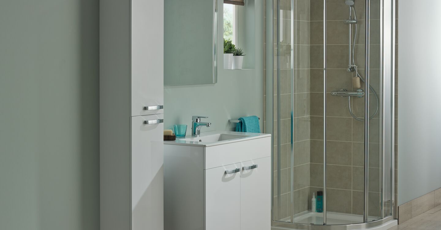 Wall hung 500mm vanity unit with 2 drawers