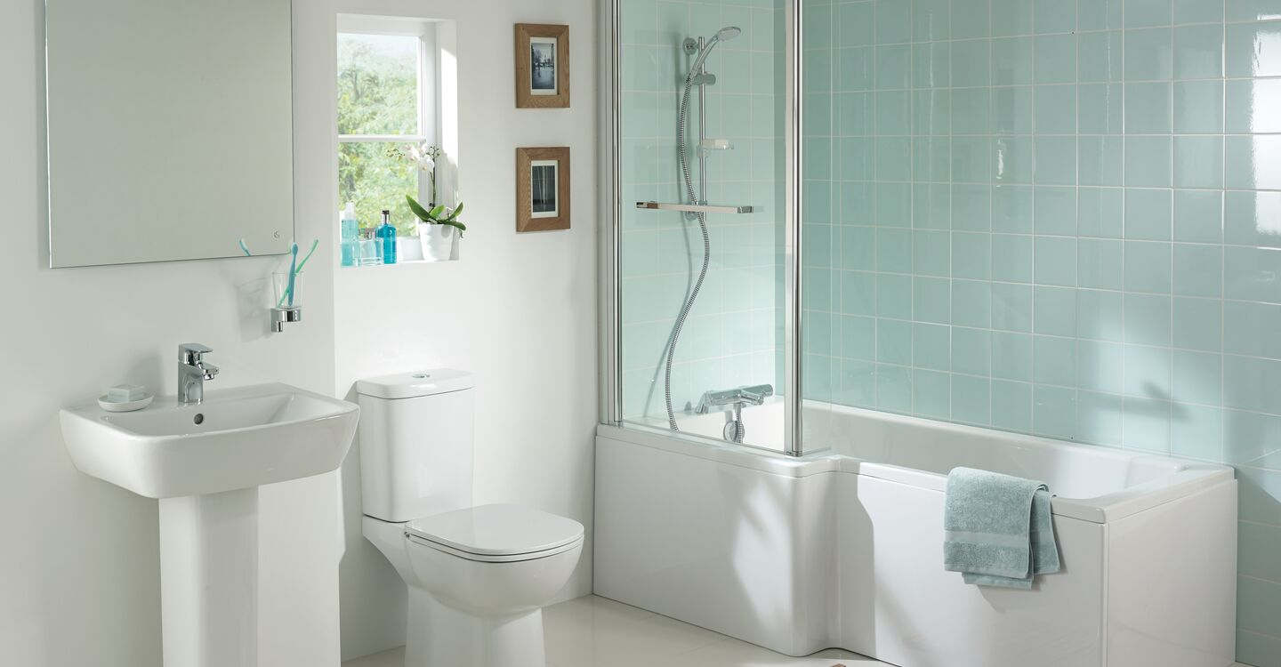 Cube shower bath front panel