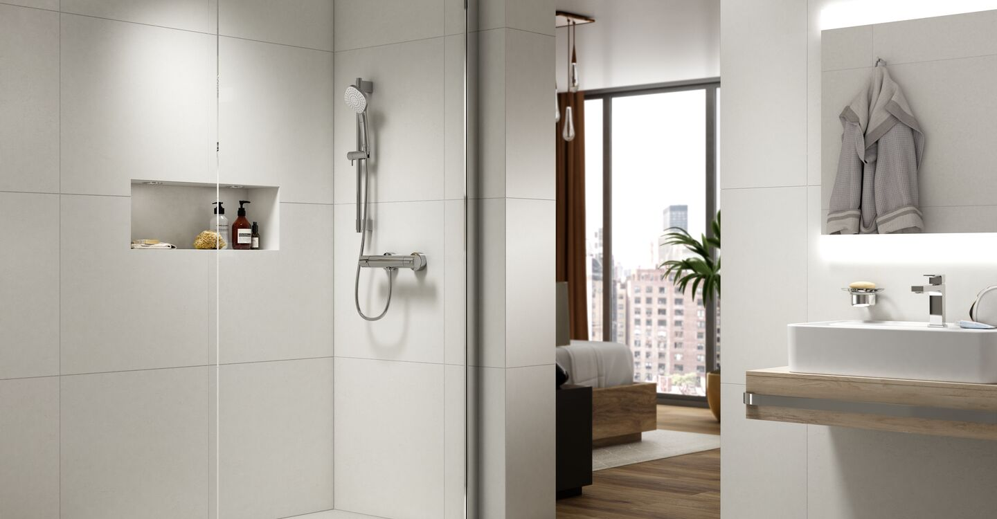 Evo jet shower kit, diamond handspray, 600mm rail