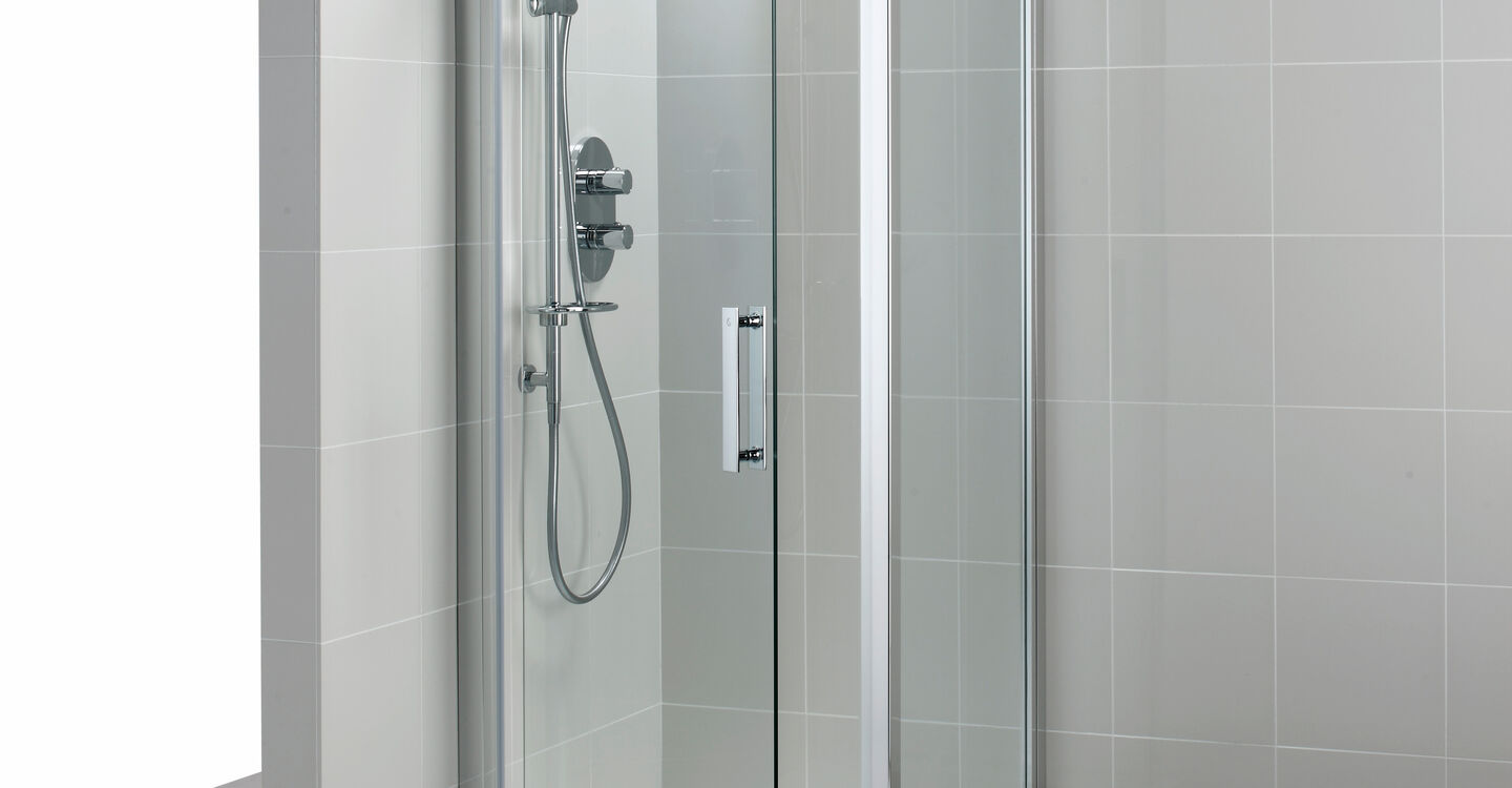 L6202 Synergy 800mm Pivot Door Idealclean Clear Glass