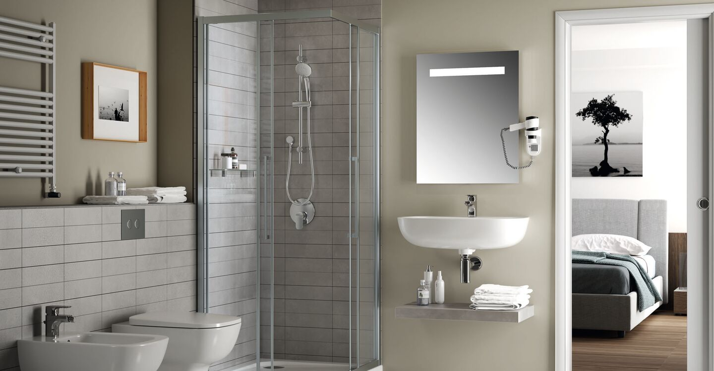 70cm mirror with light and anti-steam